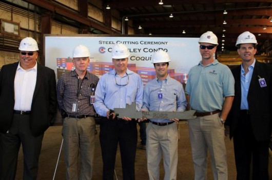 Steel-cutting-ceremony-held-for-Crowley-LNG-powered-ConRo-ships-530x352.jpg