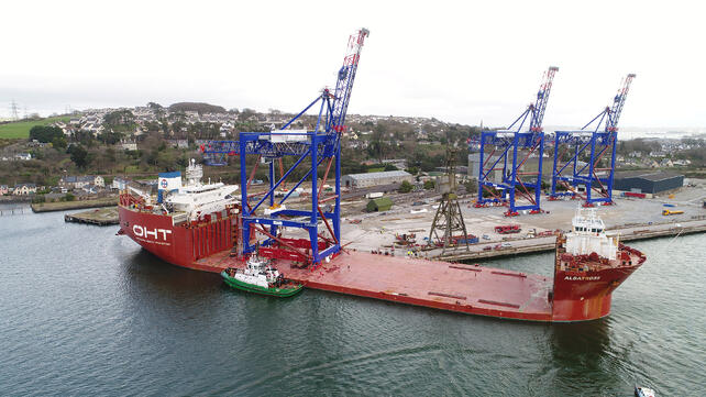 Liebherr prepares to ship three STS cranes to Puerto Rico.jpg